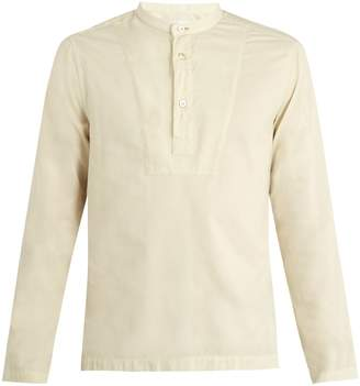 Paul Smith Grandad collar cotton-blend shirt