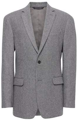 Banana Republic Standard Italian Cotton Blend Sharkskin Blazer