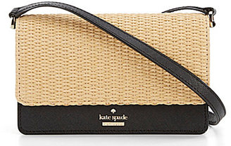 kate spade new york Cameron Street Collection Arielle Straw Cross-Body Bag $148 thestylecure.com