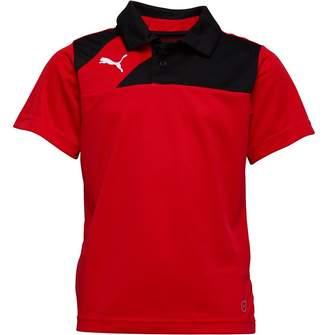 Puma Junior Boys Esquadra Leisure Polo Red/Black