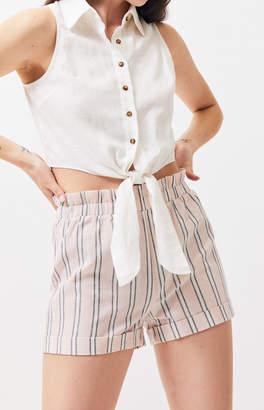 LA Hearts Striped Elastic Waist Shorts