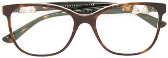 Bulgari tortoiseshell effect glasses