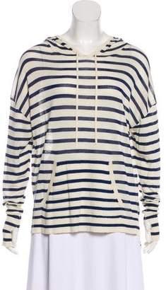 Nili Lotan Long Sleeve Hooded Sweatshirt