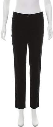 Akris Velvet Mid-Rise Skinny Pants