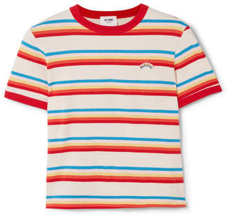 RE/DONE Seventies Striped Cotton-jersey T-shirt - Red