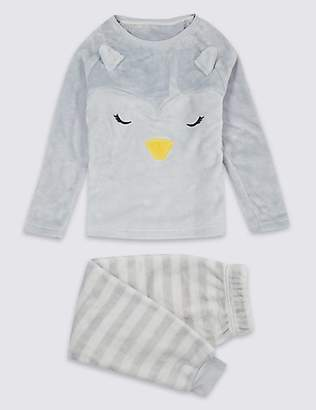 Marks and Spencer Penguin Fleece Pyjamas (1-16 Years)