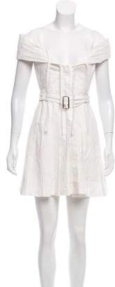 Alexander McQueen Pleated Eyelet Dress
