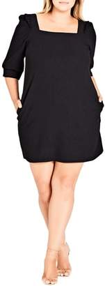 City Chic Darling Square Neck Dress