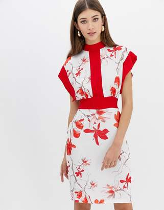 Closet London Closet Floral Kimono Dress