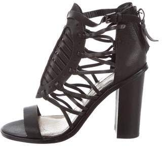 Cynthia Vincent Leather Cage Sandals