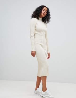 Asos Design DESIGN midi dress in ribbed knit