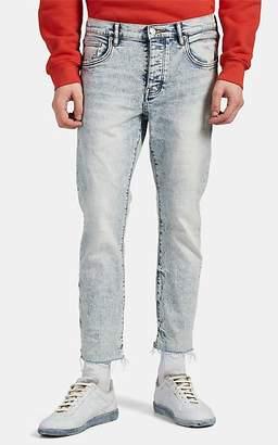Purple Men's P001 Acid-Washed Skinny Crop Jeans