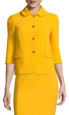Michael Kors Wool Button-Front Jacket