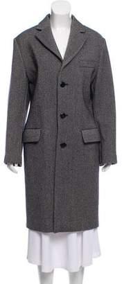 Miu Miu Wool Notch-Lapel Long Coat