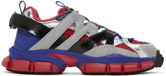 Juun.J Red and Blue Strap Sneakers