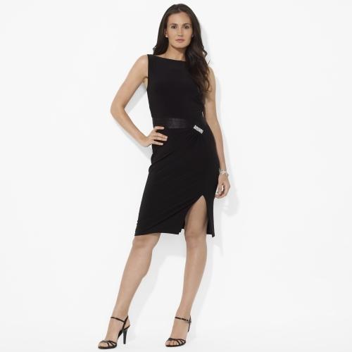 Ralph Lauren Sleeveless V-Back Jersey Dress