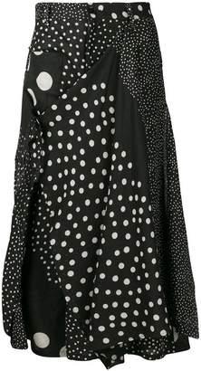 Yohji Yamamoto polka-dot mesh pattern loose trousers