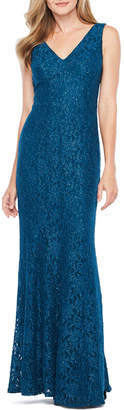 Decoded One by Eight Sleeveless Lace Evening Gown
