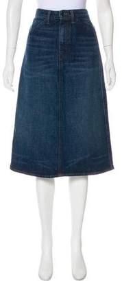 Helmut Lang Knee-Length Denim Skirt