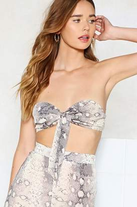 Nasty Gal Snake Out Bandeau Top