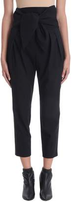IRO Black Wool Trousers