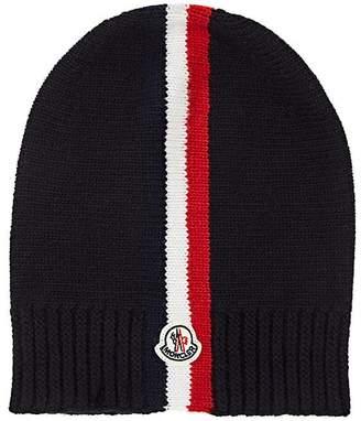 Moncler Kids' Logo Striped Virgin Wool Beanie
