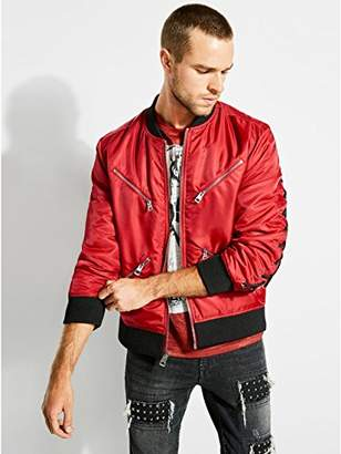 GUESS Men's Long Sleeve Kennith Zip Bomber