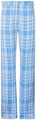 Victoria Beckham plaid straight leg trousers
