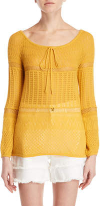 Semi-Couture Semicouture Pointelle Knit Sweater