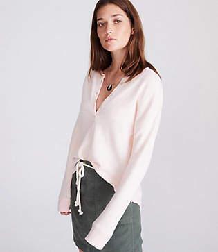 Lou & Grey Garment Dye Henley Top