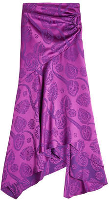 Peter Pilotto Satin Jacquard Wrap Skirt
