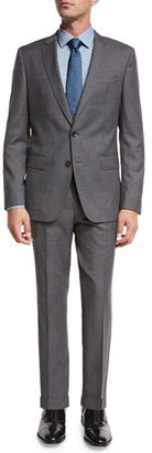 BOSS Fresco Wool Two-Piece Travel Suit, Gray $1,095 thestylecure.com
