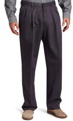 Haggar Men's Work-To-Weekend No-Iron Pleat-Front Pant Hidden Expandable Waist