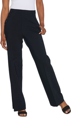 Lisa Rinna Collection High Waist Wide Leg Pant