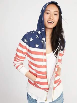 Old Navy Americana Flag-Print Zip Hoodie for Women
