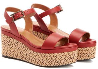 Aquatalia Cassidy Waterproof Leather Wedge Sandal
