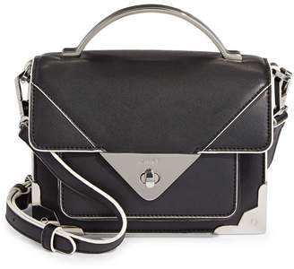 DKNY Jaxone Flap Leather Satchel