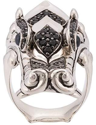 John Hardy Silver and Mixed Stone Legends Naga Ring