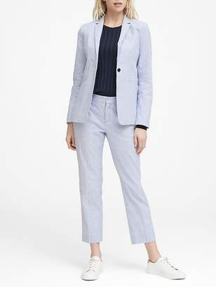 Banana Republic Petite Long and Lean-Fit Linen-Cotton Blazer