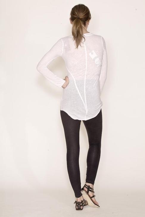 Fluxus Raw Seam Long Sleeve Tunic