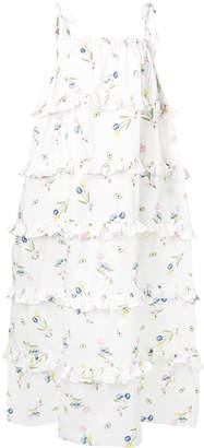 VIVETTA ruffle trim oversized dress