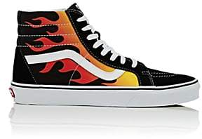 Vans Men's Sk8-Hi Reissue Canvas & Suede Sneakers-Black