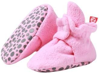 Zutano Baby Girls Cozie Fleece Booties with Grippers