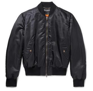 Balenciaga Embroidered Shell Bomber Jacket