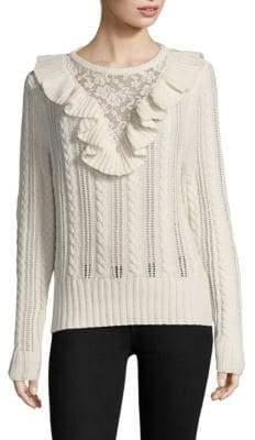 Nightcap Clothing Lace Inset Sweater