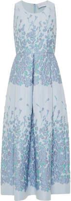 Luisa Beccaria Floral Brocade A-Line Midi Dress