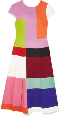 Mary Katrantzou Osmond Color-block Satin Midi Dress - Pink