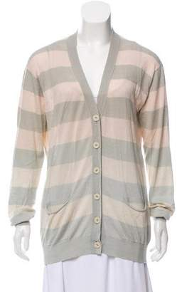 Stella McCartney Striped Silk Knit Cardigan