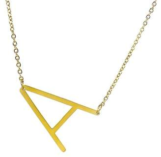 Savvy Cie 14K Gold Plated Initial Pendant Necklace with Gift Box - Multiple Letters Available