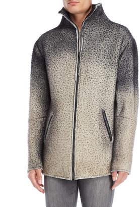 Avant Toi Grey Fuzzy Wool Jacket